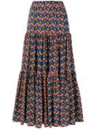 La Doublej Patterned Skirt - Blue