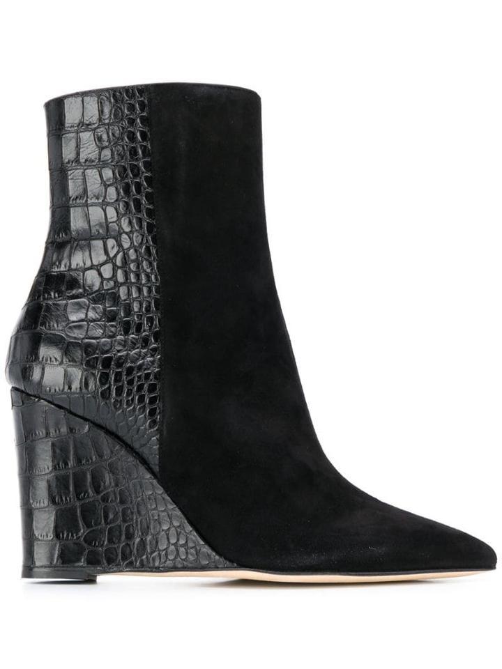 Giuseppe Zanotti Kristen Wedge Boots - Black