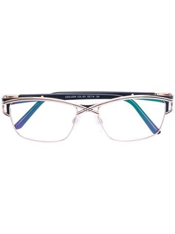 Cazal - Square Glasses - Women - Acetate/titanium - 53, Black, Acetate/titanium