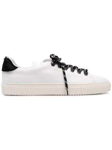 Paolo Pecora Contrast Laces Sneakers - White