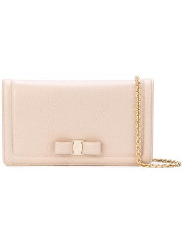 Salvatore Ferragamo - Vara Clutch Bag - Women - Cotton/leather - One Size, Nude/neutrals, Cotton/leather