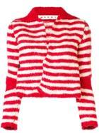 Marni Knit Striped Cardigan - Red