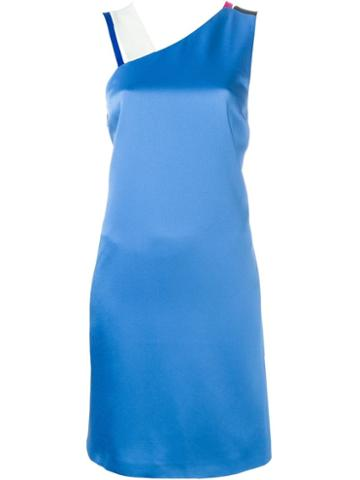 Msgm Asymmetric Shoulders Dress