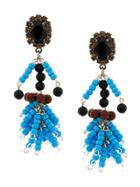 Marni Beaded Earrings - Blue