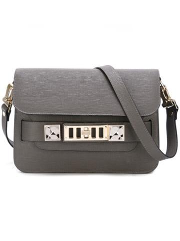 Proenza Schouler Mini Ps11 Crossbody Bag, Women's, Grey, Leather