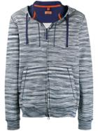 Missoni Striped Slim Hoodie - Blue