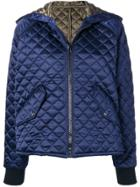 Msgm Quilted Hooded Jacket - Blue