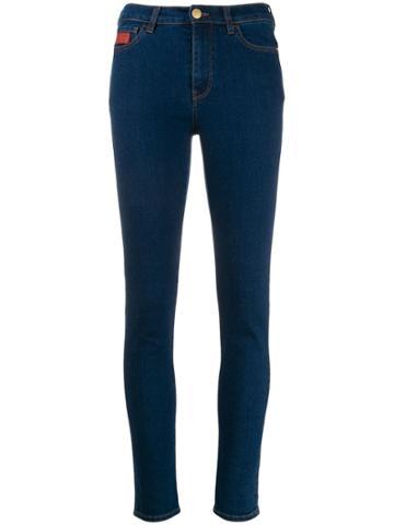 Gcds High Waisted Skinny Jeans - Blue