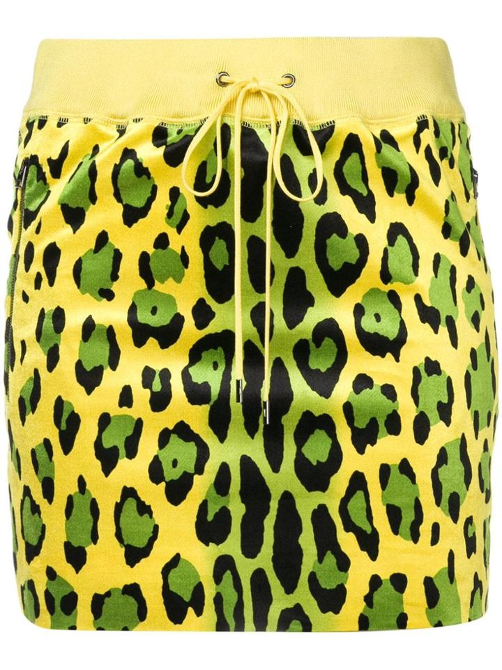 Tom Ford Tom Ford - Woman - Jaguar Print Stretch Velvet Skirt - Yellow