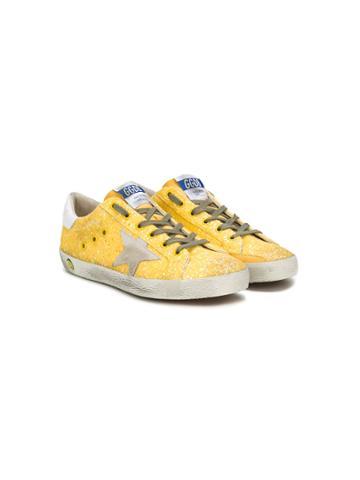 Golden Goose Deluxe Brand Kids Superstar Sneakers - Yellow & Orange