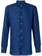 Isaia Polka Dot Shirt - Blue