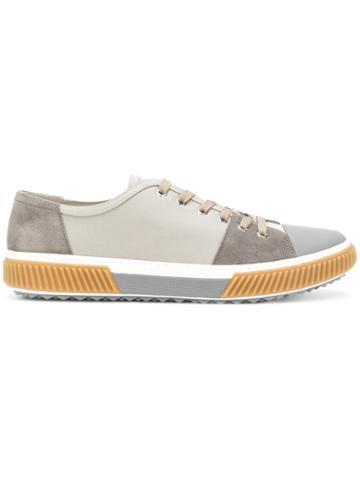 Prada Colour Blocked Sneakers - Nude & Neutrals