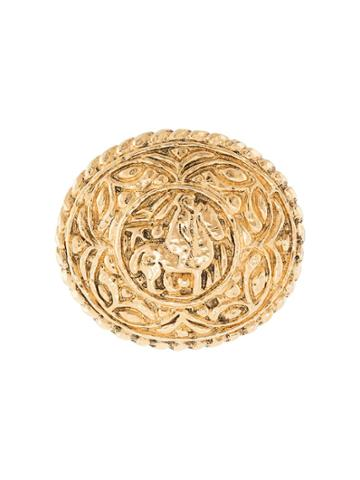 Chanel Pre-owned Horse Motif Brooch - Gold