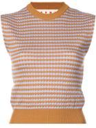 Marni Sleeveless Patterned Knit Top - Yellow & Orange