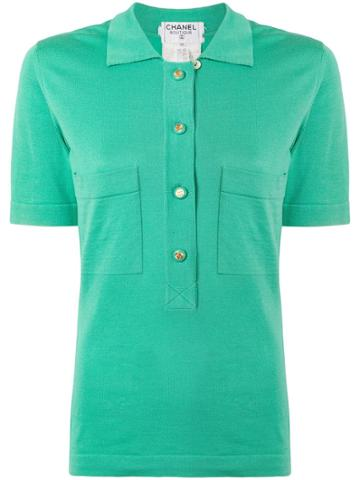 Chanel Vintage Short Sleeve Tops - Green