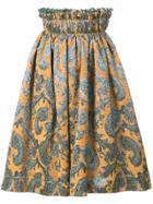 Jourden Elasticated Waist Skirt - Yellow & Orange