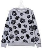 Kenzo Kids Teen Multi-icon Sweatshirt - Grey