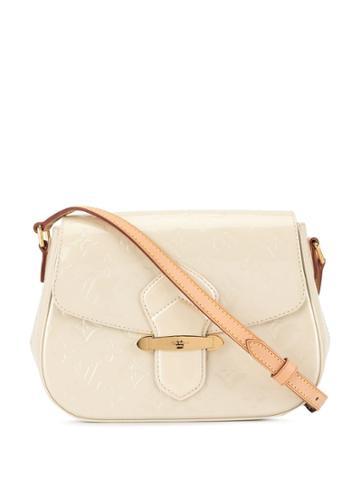 Louis Vuitton Pre-owned Vernis Bellflower Pm Shoulder Bag - White