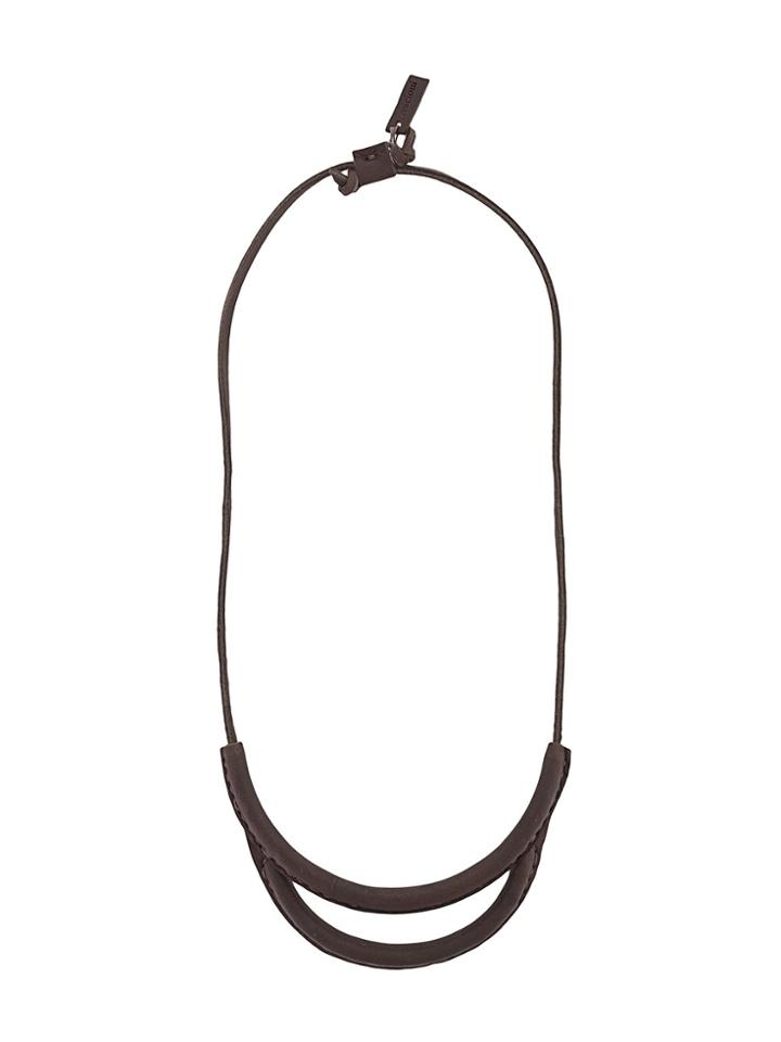 Crescioni Double Layer Necklace - Brown