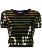 Ralph Lauren Striped Sequined Top - Black