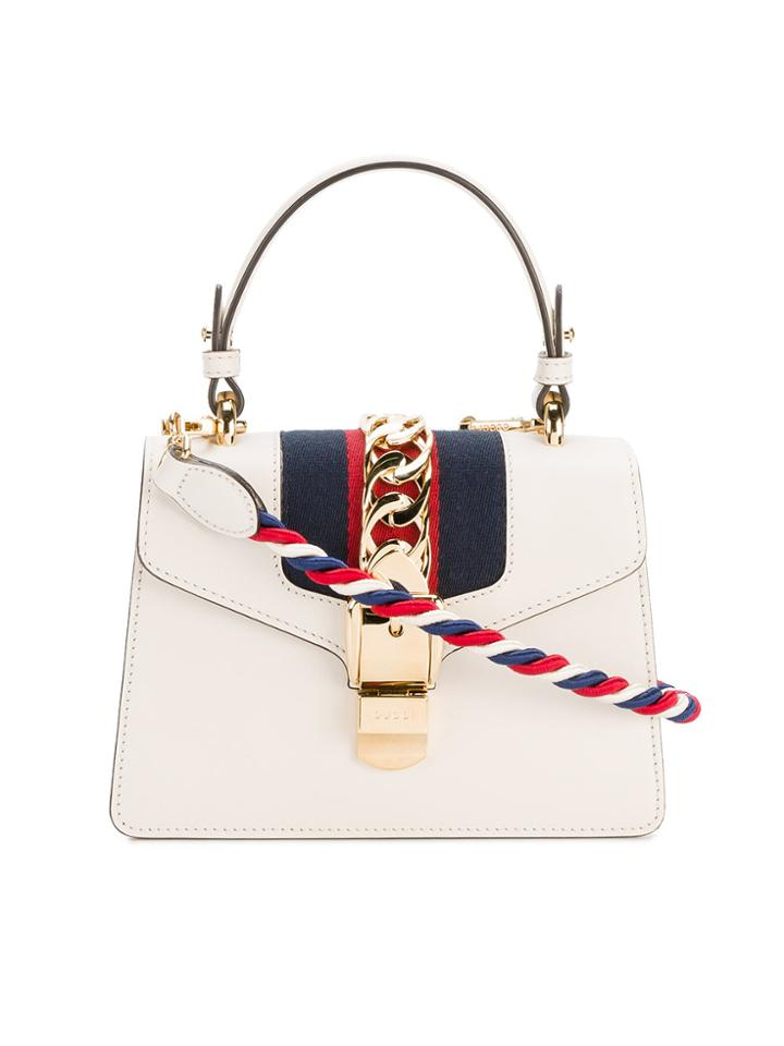 Gucci Mini Sylvie Bag With Cord Shoulder Strap - Nude & Neutrals