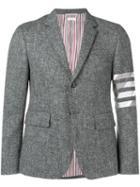 Thom Browne 4-bar Intarsia Duck Sport Coat - Grey