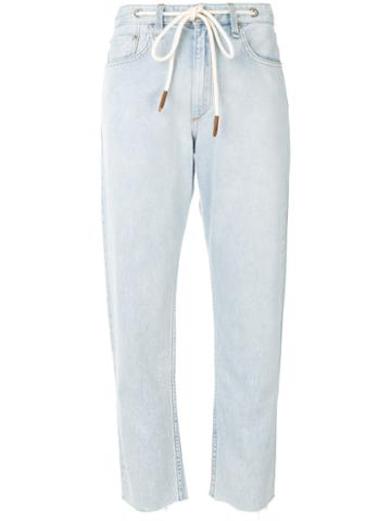 Rag & Bone /jean - Cropped Baggy Jeans - Women - Cotton - 30, Blue, Cotton