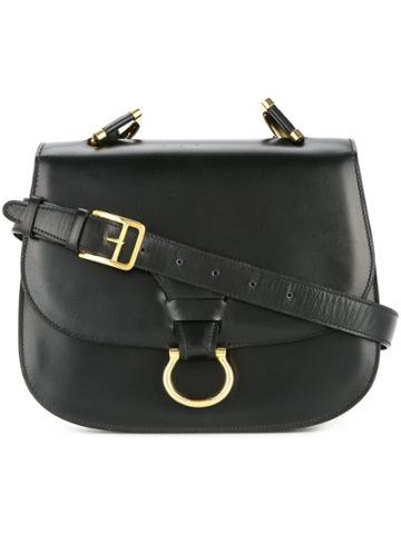 Céline Vintage Céline Logos Shoulder Bag - Black