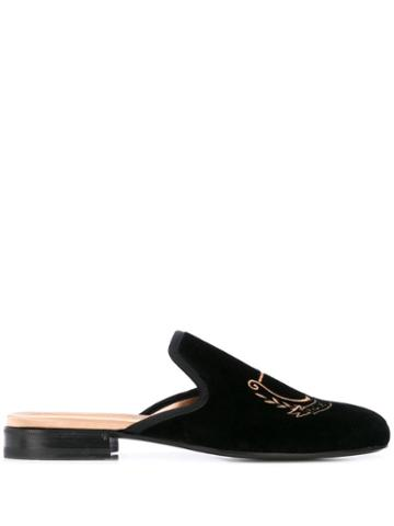 Gucci Pas De Rumeur Slippers - Black