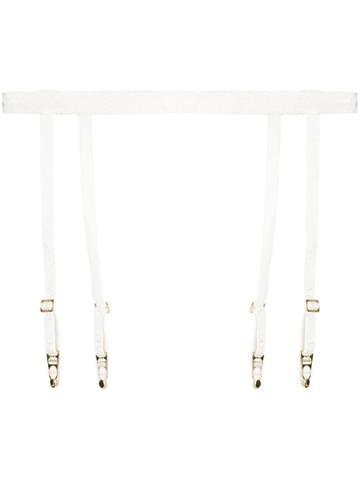 La Perla Apollonia Lace Suspender Belt - White