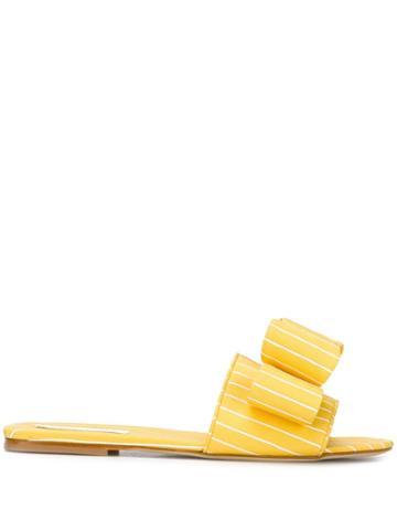 Polly Plume Lola Bow Slides - Yellow