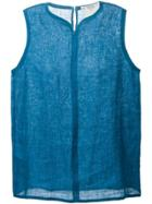 Yves Saint Laurent Vintage Sleeveless Blouse - Blue