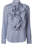 Jil Sander Striped Ruffle Shirt