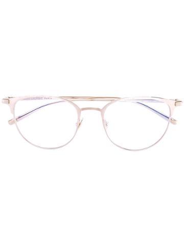 Saint Laurent - Cat Eye Glasses - Unisex - Titanium - One Size, Grey, Titanium