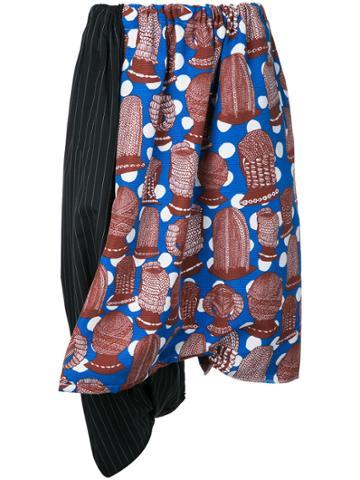 Comme Des Garçons Vintage Printed Panel Skirt - Multicolour