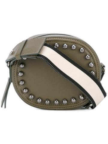 No21 Studded Crossbody Bag, Women's, Green, Leather/metal (other)