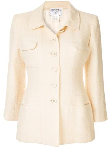 Chanel Pre-owned Fitted Jacket - White