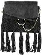 Chloé - Fringed Faye Shoulder Bag - Women - Calf Leather/calf Suede - One Size, Women's, Black, Calf Leather/calf Suede