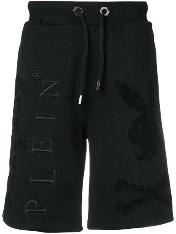 Philipp Plein Loose Track Shorts - Black