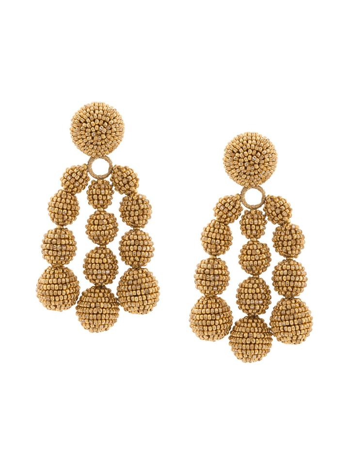 Sachin & Babi Beaded Knot Earrings - Yellow & Orange
