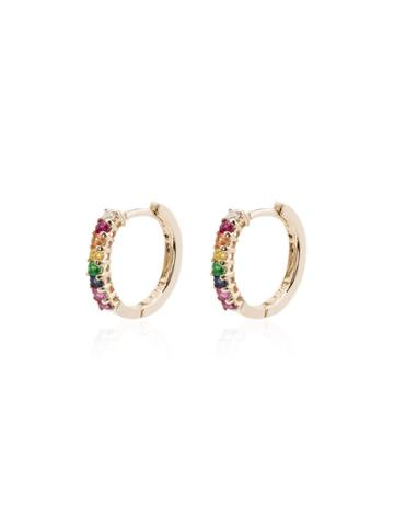 Mateo Multicoloured Hoop Earrings - Metallic
