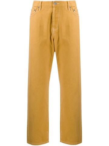 Stussy Cropped Capri Trousers - Yellow