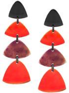 Monies Drop Earrings - Red