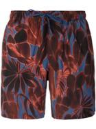 Ermenegildo Zegna Floral Print Swim Shorts - Red