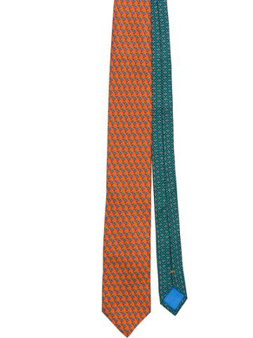 Prada Micro Print Tie - Orange