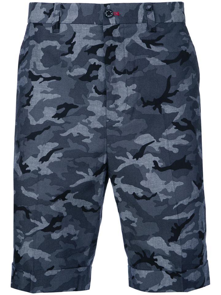 Loveless - Camouflage Shorts - Men - Cotton - 1, Blue, Cotton