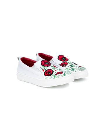 Quis Quis Teen Poppy Laceless Sneakers - White