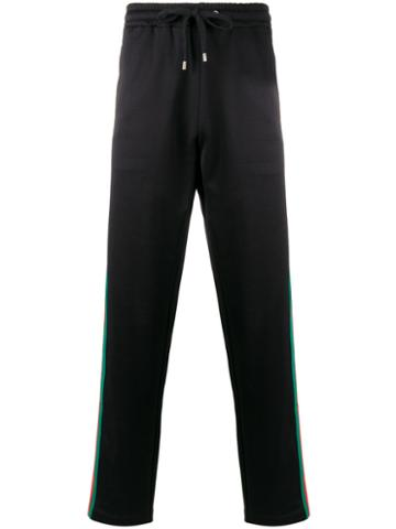 Gucci - Web Track Pants - Men - Cotton/polyamide/polyester - Xs, Blue, Cotton/polyamide/polyester