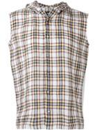 Raf Simons Hooded Plaid Shirt