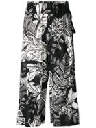 See By Chloé Floral Wide Leg Culottes - Black